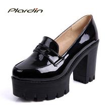 Platform Shoes Women Pumps 2016 Spring And Autumn Decoration Comfortable Sweet High-heeled Shoes Match Color Block Women Shoes