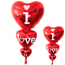 Buy 2017 New Design 98*50cm Small Red Heart Love Foil Balloons Marriage Room Layout Wedding Party Balloon Decoration Party Suppies for $1.12 in AliExpress store