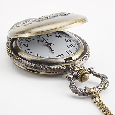 Unisex Fish Alloy Analog Quartz Pocket Watch Bronze