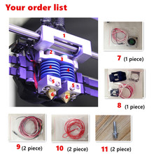 Upgrade Extruder head for DE dual printer 3d DE PLUS DG extruder CreatBot 3d printer Nozzle