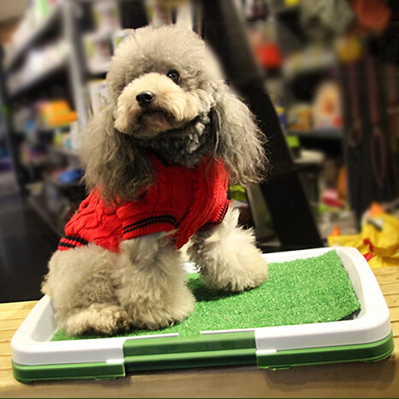 Free Shipping Potty Trainer Rectangle Toilet for Puppy Easy To Clean Cage Mat Bathroom Pet Products Supply(China (Mainland))