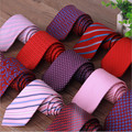 2015 Brand Fashion Designer 29 Style Red Silk Ties For Men Solid Celebrity Pajaritas Gravata Slim