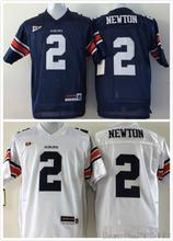 Auburn Tigers #2 Cam Newton College Jerseys Blue White Stitched Logos(China (Mainland))