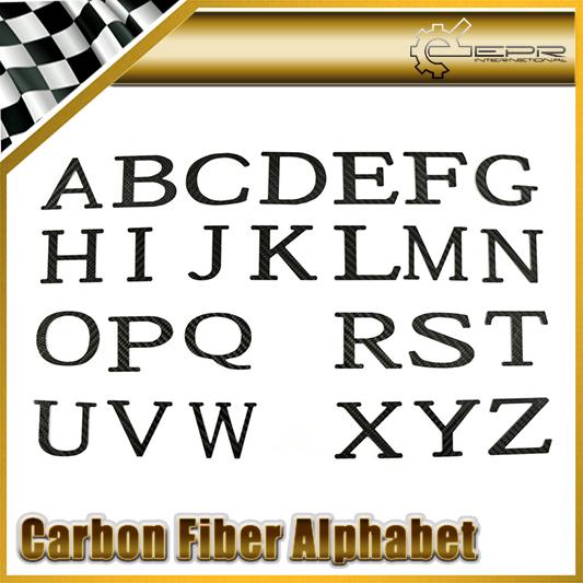 Car Styling Pure Carbon Fiber Alphabet Name Sticker Individuation Emblem Personalization Badge<br><br>Aliexpress