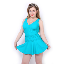Solid Color Swimwear Women 2016 Hot Women One Piece Wide Strap Swimsuit Bathing Suit Plus Size Beach Wear Larger Size Cover-ups