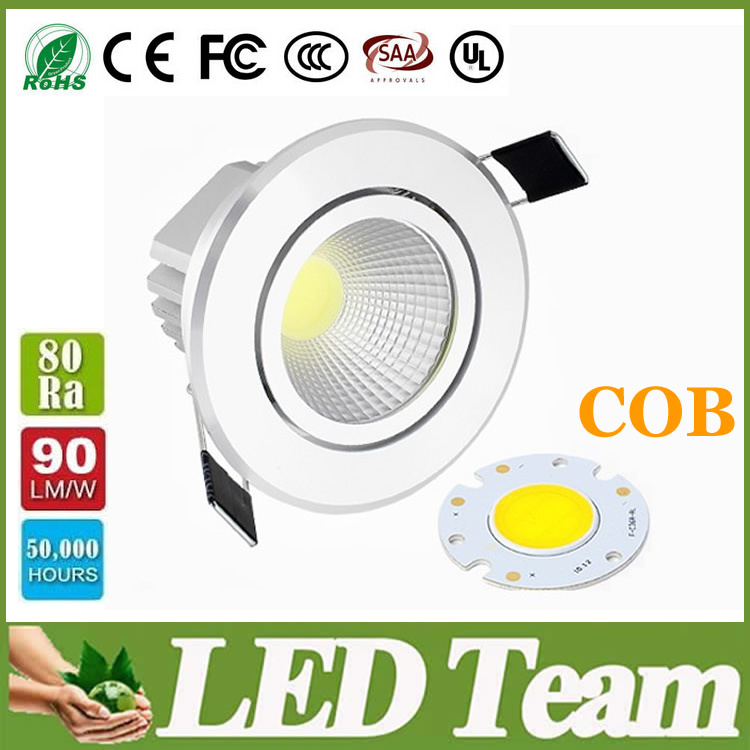 Factory Selling Led Dimmable Cob Downlights Warm/Nature/Cool White Led Lights For Home 9W Replace 40W halogen Lights +Drivers CE(China (Mainland))