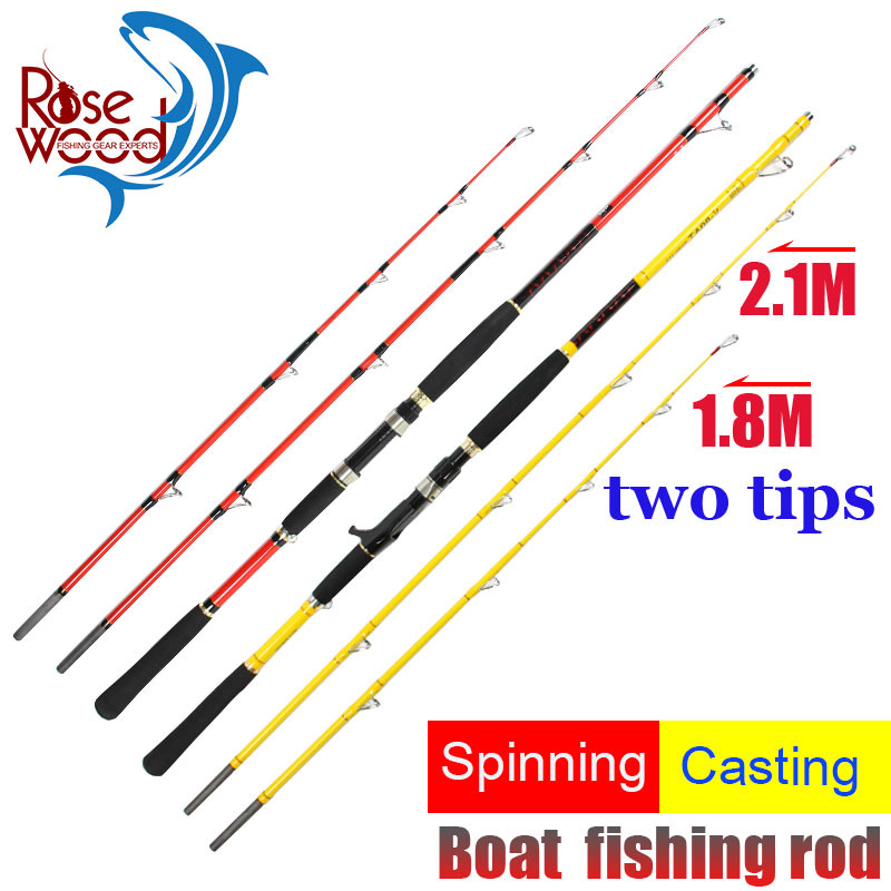 Buy Trulinoya 2.1m Casting Fishing Rod Two Tips M/ML Via ...