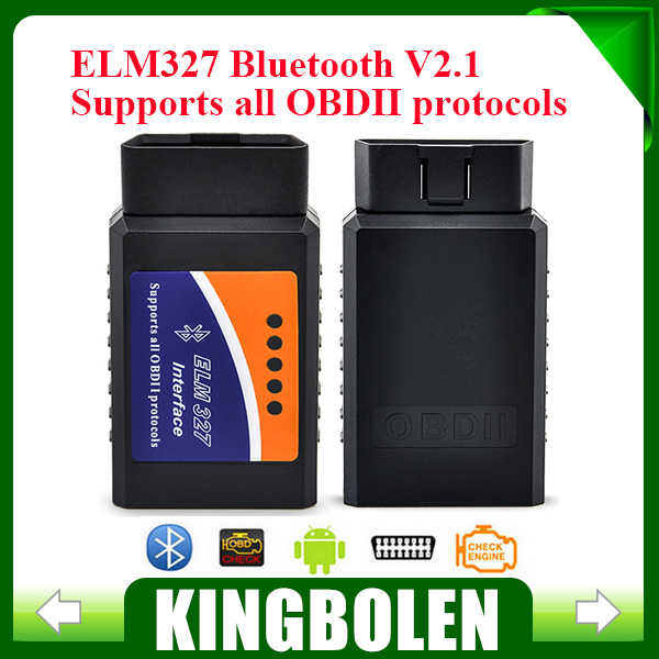 2015 Newest ELM327 Bluetooth V2.1 Interface Works On Android Torque Elm 327 Bluetooth OBD2/OBD II Car Diagnostic Scanner(China (Mainland))