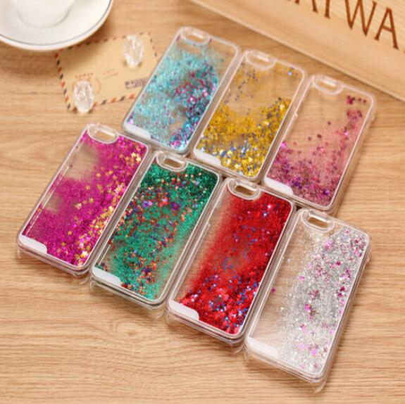 Hot Glitter Stars Dynamic Liquid Quicksand Hard Case Cover iPhone 4 4s Transparent Clear Phone - love sypo MX1 CLD store