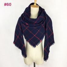 Hijab Cashmere Scarf women pashmina Soft Blanket scarf luxury brand designer scarves for women pashminas za tartan Plaid scarf(China (Mainland))