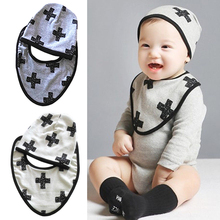 Newborn Infants Cap+ Towel Saliva Bib Baby Kid Lunch Bibs hat bibs Cotton Bandana Scarf 2016 fashion new B1 - Shenzhen Ashopone Technology Co., Ltd. store