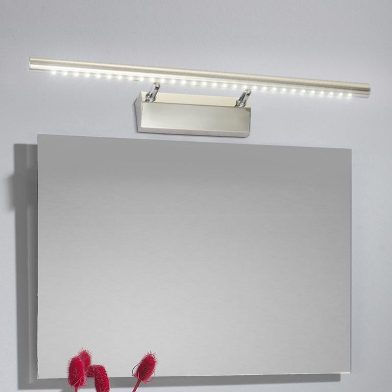 Фотография Modern brief led mirror light bathroom stainless steel wall lamp 7w tile 3005