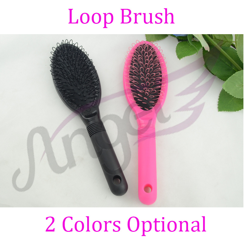 1pc-Professional Anti-Static Loop Pin Cushion Brush Static Free For Hair Extension/Wig Care(China (Mainland))