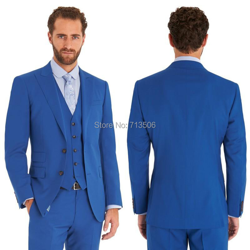 2017 Wholesale 2016 Royal Blue Wedding Suits Design Mens Suits ...