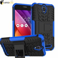 Mobile Phone Case +Kickstand TPU+PC Dual Armor Silicon Anti-Knock Hard Protective Back Cover For ASUS Zenfone GO ZC451TG 4.5inch(China (Mainland))