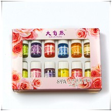 12pcs Brand New Essential Oils Pack for Aromatherapy Spa Bath Massage Skin Care Lavender Oil With 12 Kinds of Fragrance(China (Mainland))