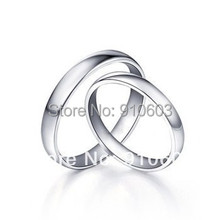 9K Pure Gold Couples Rings With No Diamond Three Color Gold To Choose Engagement Ring Holiday Gift Not Simulated(China (Mainland))