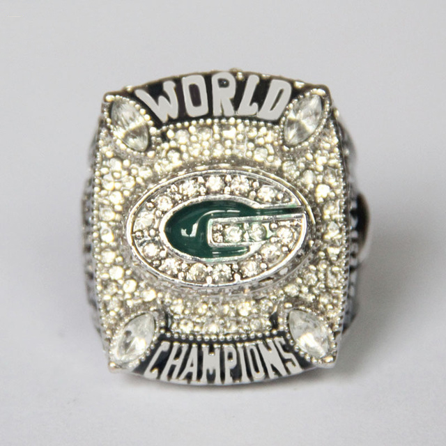 Drop Shipping Sports Fans Green Bay Packers Aaron Rodgers the NFL Super Bowl championship rings Champion Statement Men Jewelry(China (Mainland))
