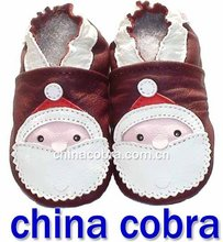 free shipping 100% soft sole genuine leather baby shoes christmas man(China (Mainland))