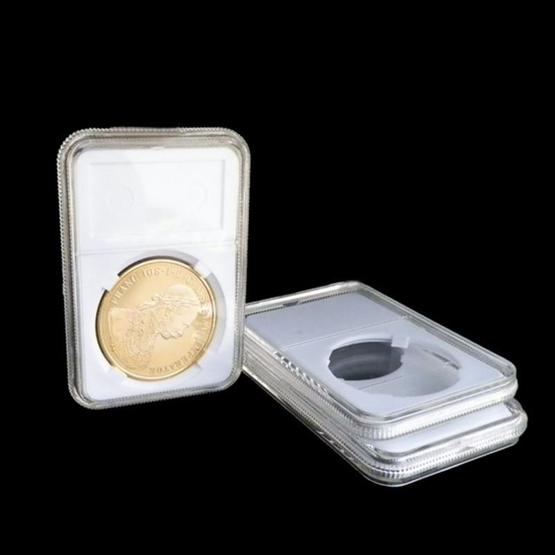 Free shipping 2016 PCCB Graded Coin silver gold coin slabs storage box size:40mm 10pcs/lot(China (Mainland))