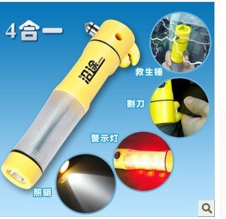 Emergency Hammer for car 4 in 1Multi-function LED Emergency Hammer(China (Mainland))