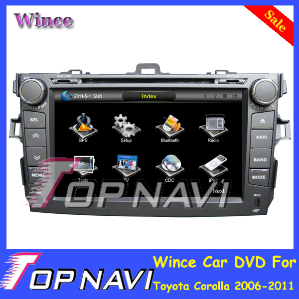 Free Shipping Professional Wince Car Entertainment System Multimedia DVD PLayer For Toyota Corolla 2006-2011 With GPS Free Map<br><br>Aliexpress