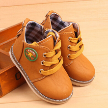 NEW 2015 Children Martin boots Autumn Winter With plush Snow boots PU leather Boys Girls shoes