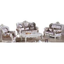 European-style Sofa Living Room Sofa Wood Sofa Combination Of High Quality Living Room Furniture Sofa Set(China (Mainland))