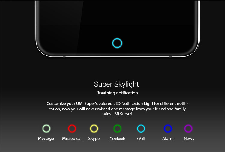 Umi Super Touch ID Helio P10 MTK6755 2.0GHz Octa Core 5.5 Inch FHD Screen 4G RAM 32G ROM 4000mAh Android 6.0 4G LTE Smartphone