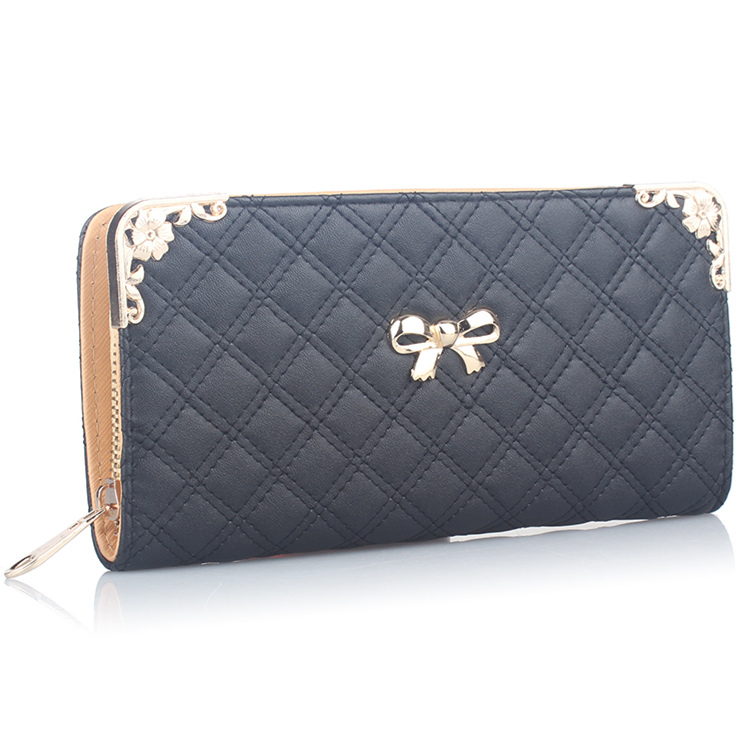 Гаджет  Women Single Zipper Leather Long Wallet Woman Female Girl Feminina Plaid Metal Corner Purse Day Clutch Portefeuille Femme gw0548 None Камера и Сумки