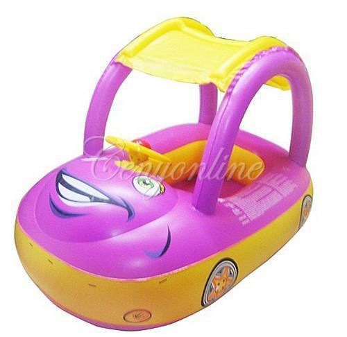 Free Shipping Sunshade Kids Baby Child Swimming Float Seat Boat Inflatable Swim Ring Water Pool Car Sun Umbrella Protection(China (Mainland))