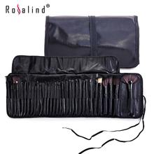 Rosalind Professional Makeup Tools 32 Pcs Makeup Brushes Wooden Color with Leather Bag Cosmetics Make Up Kits(China (Mainland))
