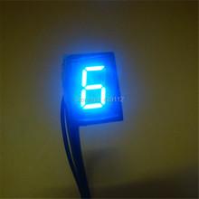 Горячая распродажа синий свет из светодиодов универсальный цифровой индикатор мотоциклов дисплей N-6 бесплатная доставка