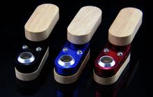 3pcs/lot  New magic wood metal smoking pipe Hand Pipe rolling machine grinder vaporizer