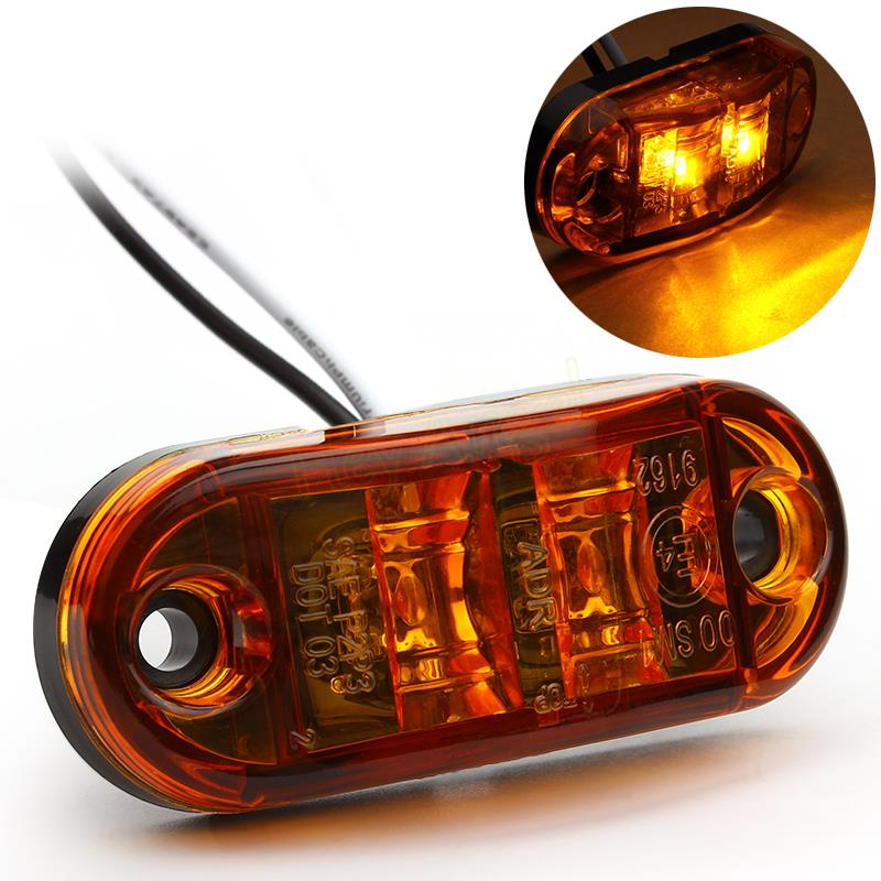 1pcs 12v Auto Daytime Running light Warning lights DRL LED Side Marker Light Clearance Lamp E-marked DOT Car Truck Trailer Rear(China (Mainland))