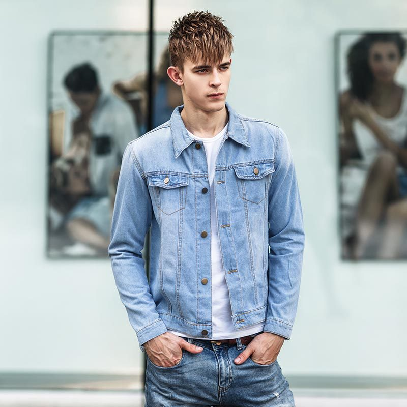 Collection Jean Jacket Men Pictures - Reikian