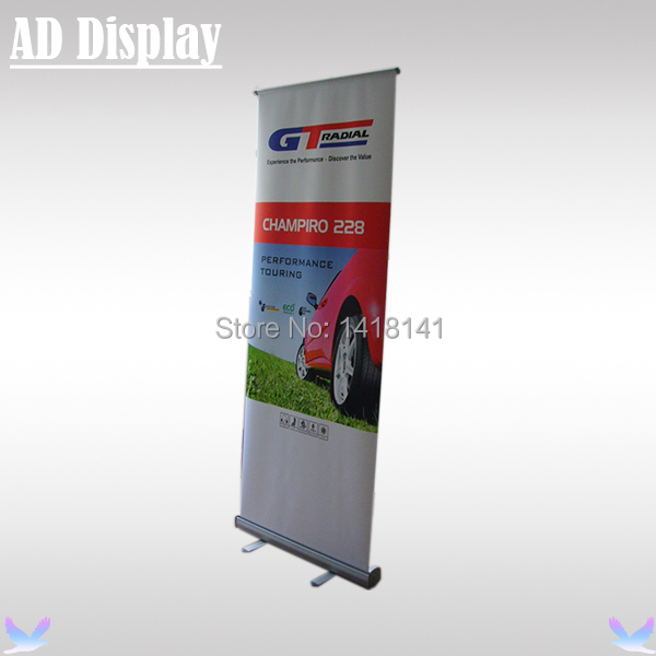 80*200cm Economical Portable Aluminum Roll Up Banner Display Stand,Retractable Pull Up Banner,Trade Show Advertising Equipment(China (Mainland))