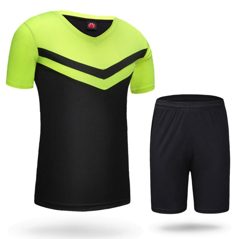 HOT men boys soccer sets training tracksuits jerseys sport skits shorts Football Soccer jersey shirt summer football jerseys set(China (Mainland))