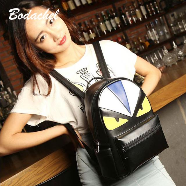 Монстр рюкзаки высокое качество черный кожа Кожа PU является высокотехнологичным ...