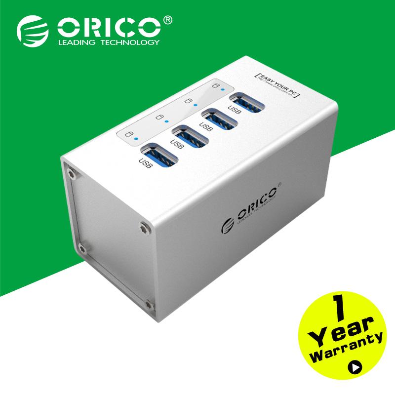 все цены на USB разветвитель ORICO a3h4/sv 4 USB 3.0 12V /2.5A A3H4-SV онлайн