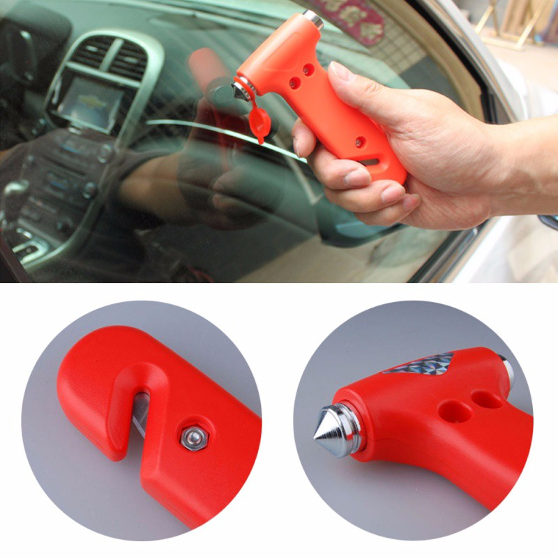Durable Safety Emergency Tool Car Life-Saving Hammer Belt Cutter Window Seat Red 2017 Hot