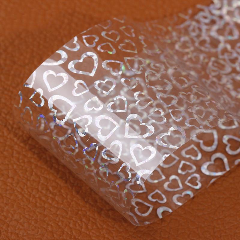 1Pcs Laser Silver Heat Nail Art Transfer Foils Adhesive Stickers For Nail Art Foils Decal Nail Decorations Nail Tips Tools GL101(China (Mainland))