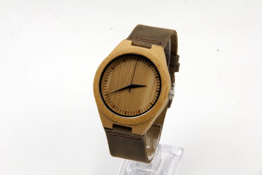 Новый дизайн японский miyota 2035 движение наручные часы натуральная кожа бамбук деревянные часы для мужчин и женщин Подарки к рождеству