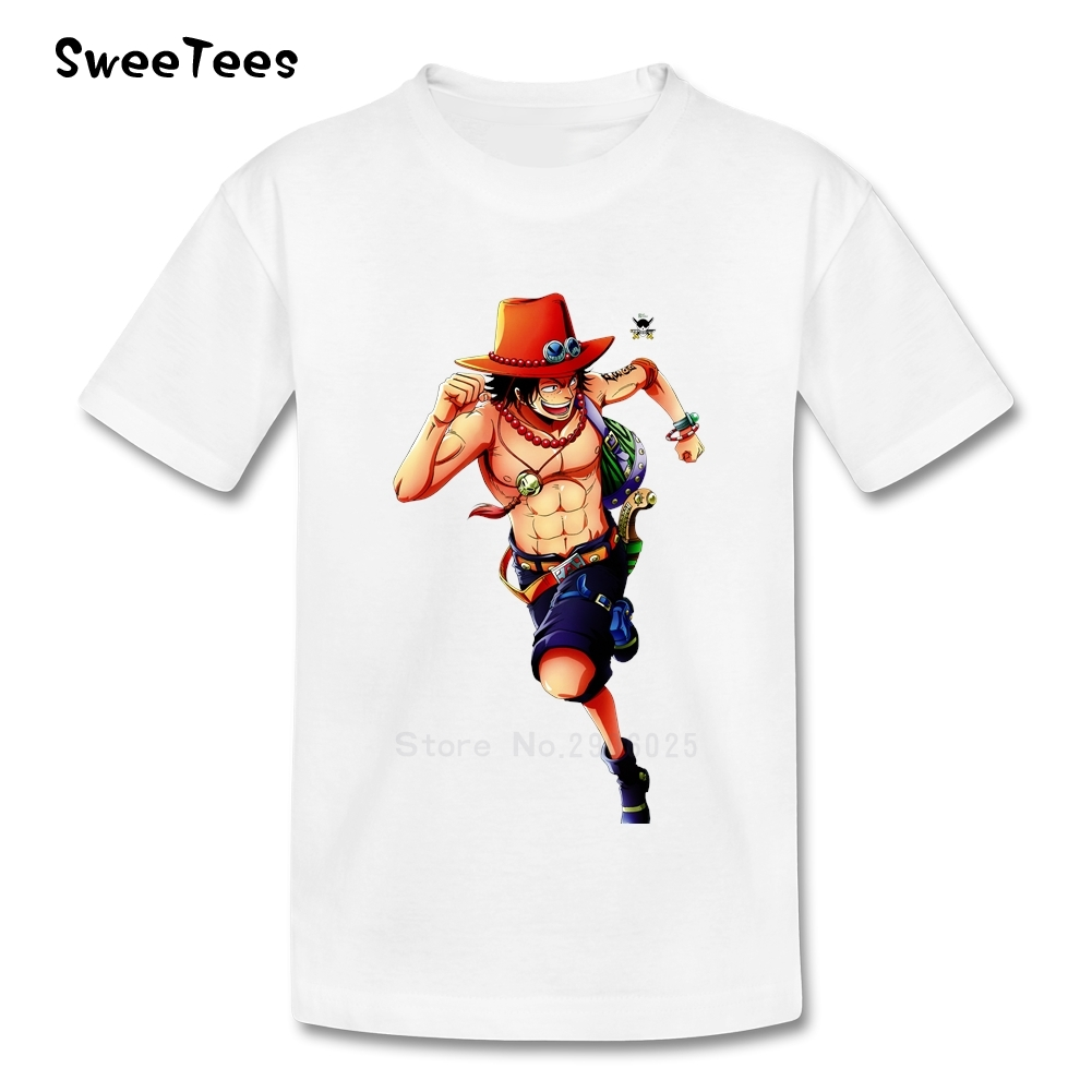One Piece Luffy Boy Girl T Shirt Short Sleeve Cotton Crew Neck Tshirt Children Clothing 2017 Best Selling T-shirt For Toddler(China (Mainland))