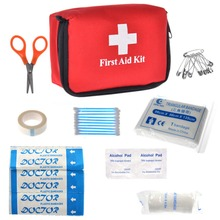 New Portable 10 Pcs/Set Emergency Survival First Aid Kit Outdoor Sports Travel Camping Home Medical Bag Hot Sale