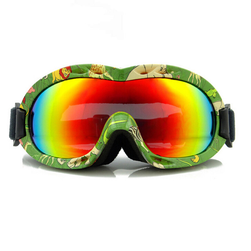 2015 Ski Goggles Kids Snowboard Goggles 100% UV 400 Children Ski Snowboard Glasses Eyewear With Case 6001(China (Mainland))
