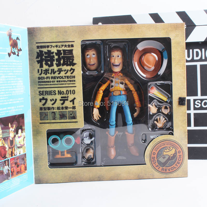 Toy Story Woody Series NO. 010 Sci-Fi Revoltech Special PVC Action Figure Collectible Toy DSFG189(China (Mainland))