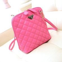 2015 small bag fashion women's handbag women's bags messenger bag plaid shell bag women's cross-body handbag