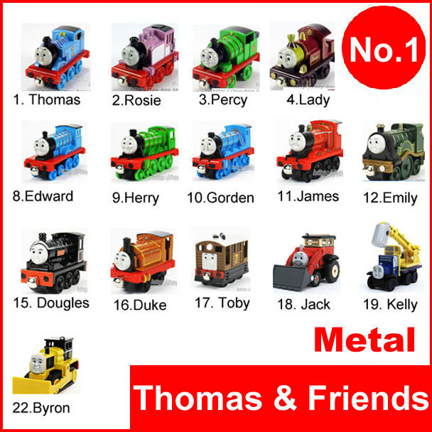 NEW 2015 5Pcs/Lot thomas and friends trains set/ diecast metal tomas train with the tank engine a cars toys for children kids c(China (Mainland))