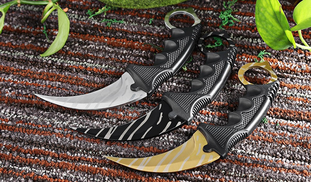 Buy CS GO Counter Strike Claw Knife with Sheath Tactical Survival Camping Tool cheap